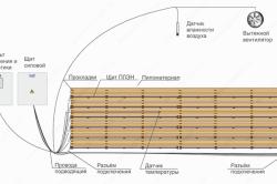Схема инфракрасной сушки древесины