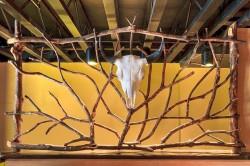 Декоративная решетка из веток