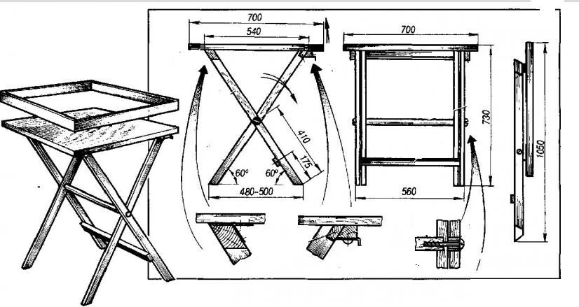 Сделать стол раскладной из дерева своими руками 21