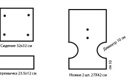 Схемы различных размеров табуретов
