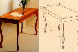 Деревянных стол своими руками