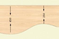 Схема столешницы туалетного столика