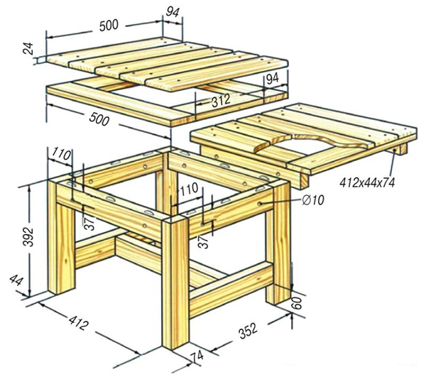 Схема ремонта сидения