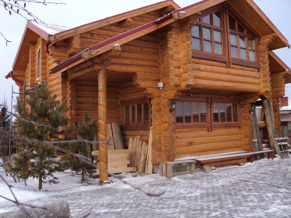 Дома из рубленного бревна фото