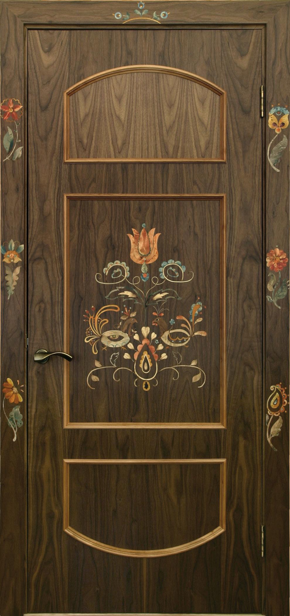 Деревянный декор дверей своими руками