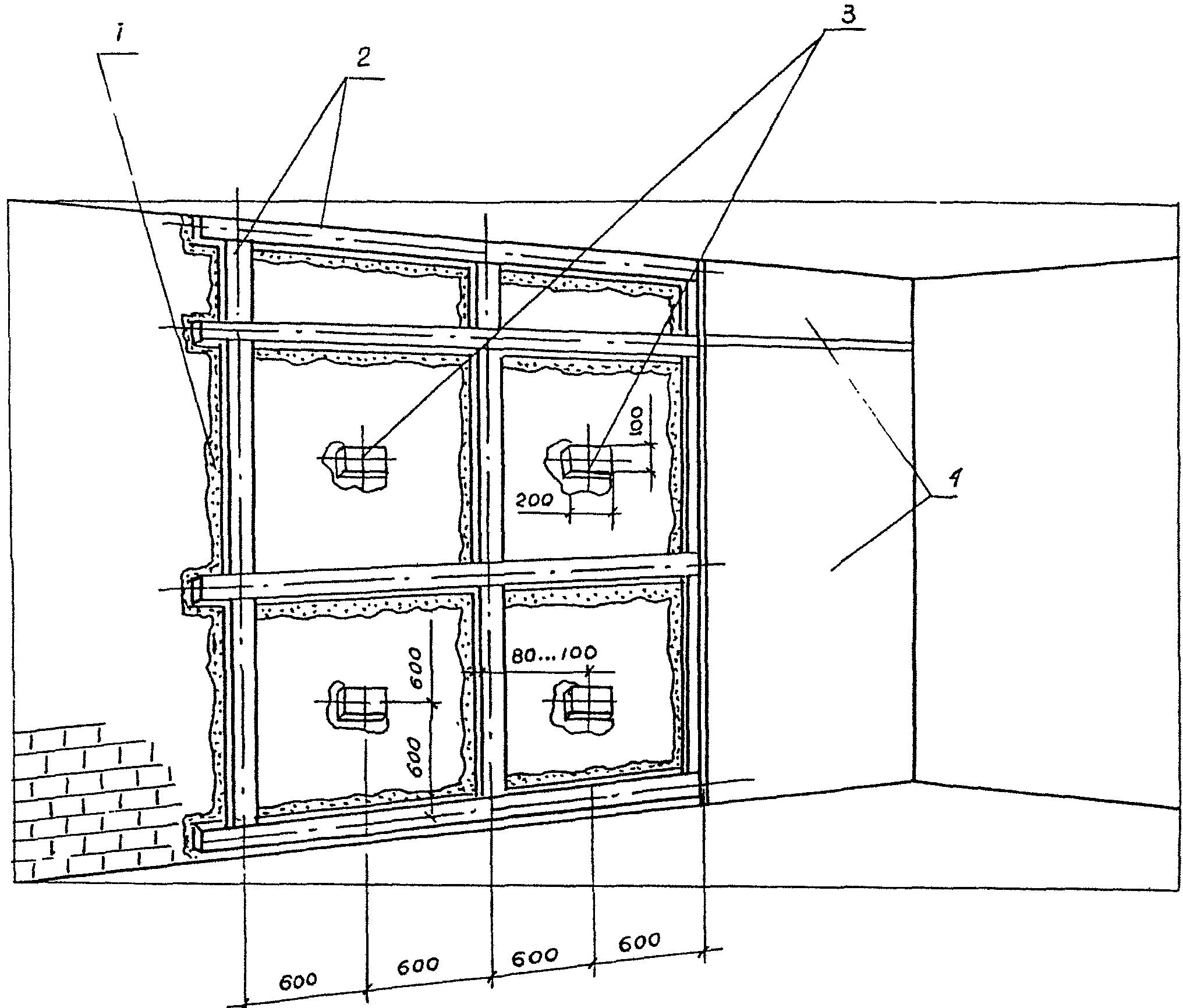 схема монтаж стена из гкл