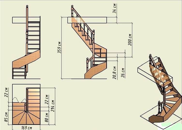 Как сделать лестницу своими руками винтовую