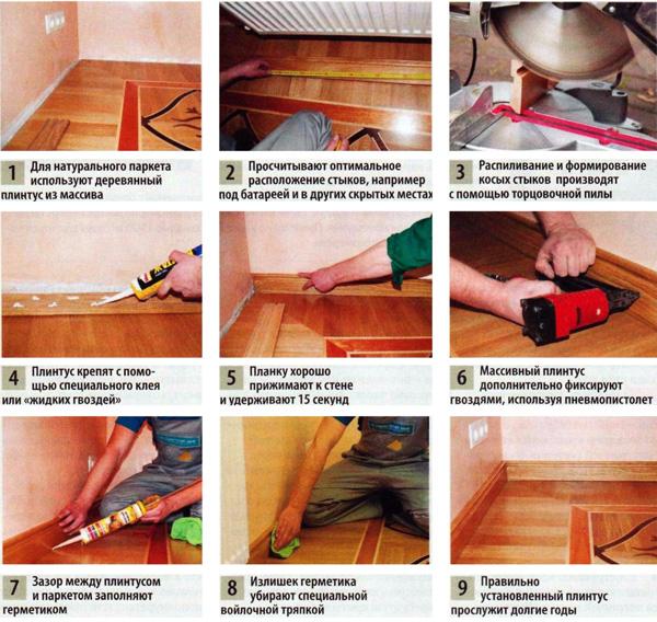 Как сделать плинтус дома 938