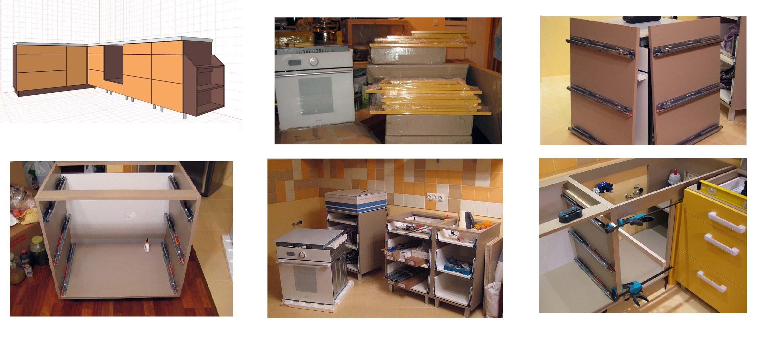 Изготовление простой кухни своими руками 45