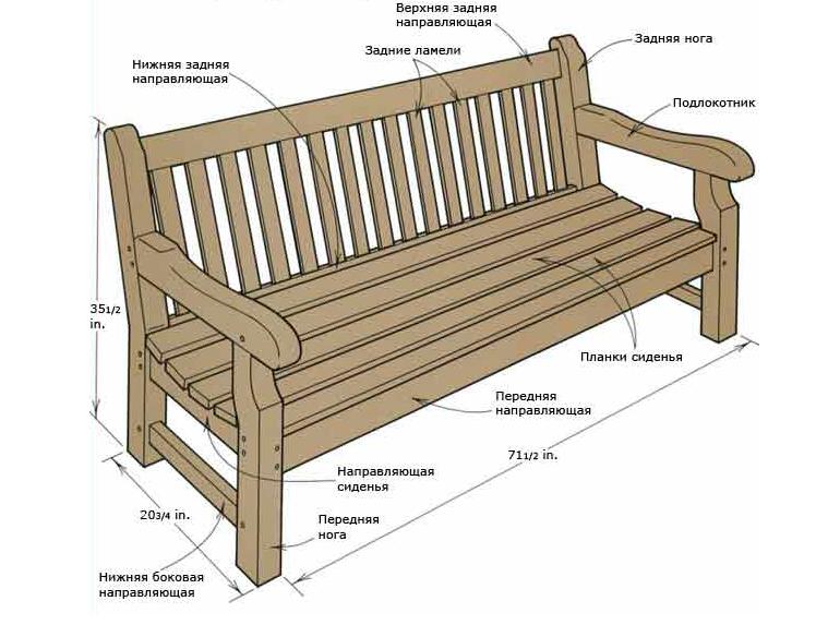 Сделать деревянную лавку своими руками