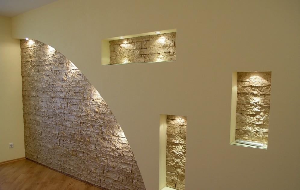 Декор своими руками из гипсокартона на стенах 900