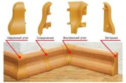 Стыковка деревянного плинтуса