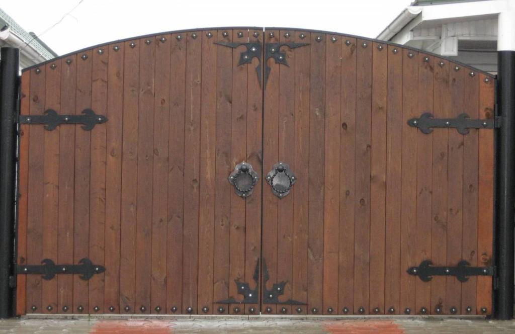 Ворота распашные своими руками фото фото 14