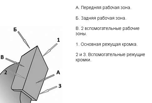 Схема устройства зуба дисковой