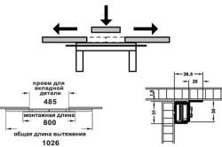 Алюминиевые роликовые направляющие для раздвижного стола