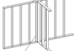 Схема стен каркасного гаража