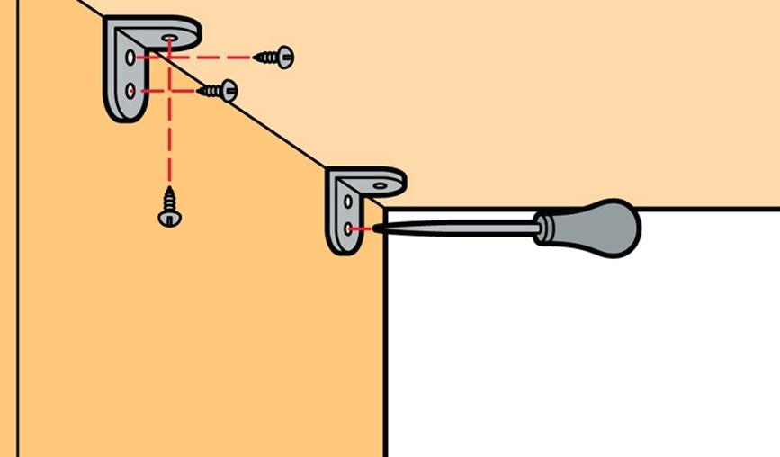 Схема установки крепежей для