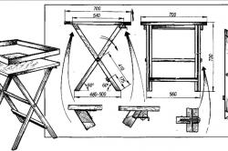 Размеры раскладного квадратного столика