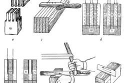 Изготовление прямых шиповых соединений для крепления столика