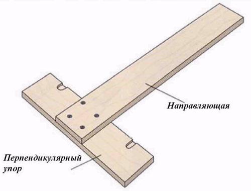 Схема Т-образного упора для