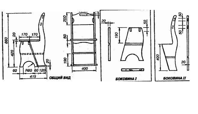 Схема сборки стульчика-