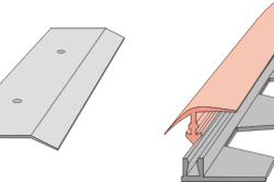 Варианты накладных планок для стыковки напольных покрытий