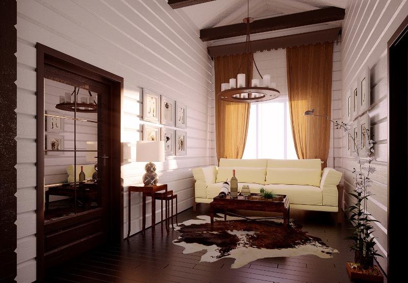 Интерьеры дома из бруса фото