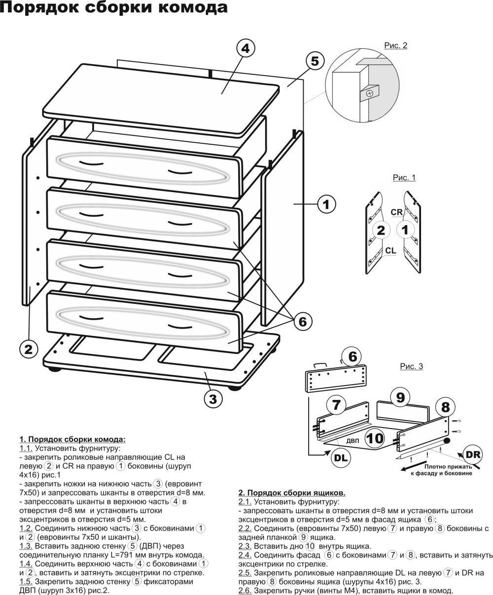 Сборка мебели своими руками чертежи