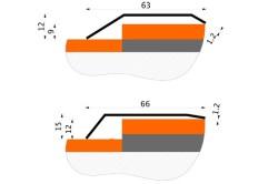Размеры разноуровневых порожков из нержавеющей стали