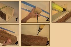 Этапы установки декоративных балок на потолок