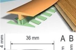 Монтаж гибкого порожка для стыковки напольных покрытий