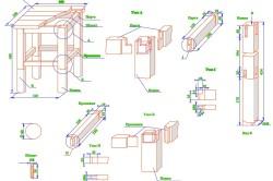 Схема сборки табурета