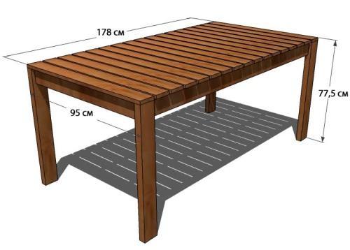 Как сделать стол из дерева чертежи фото 65
